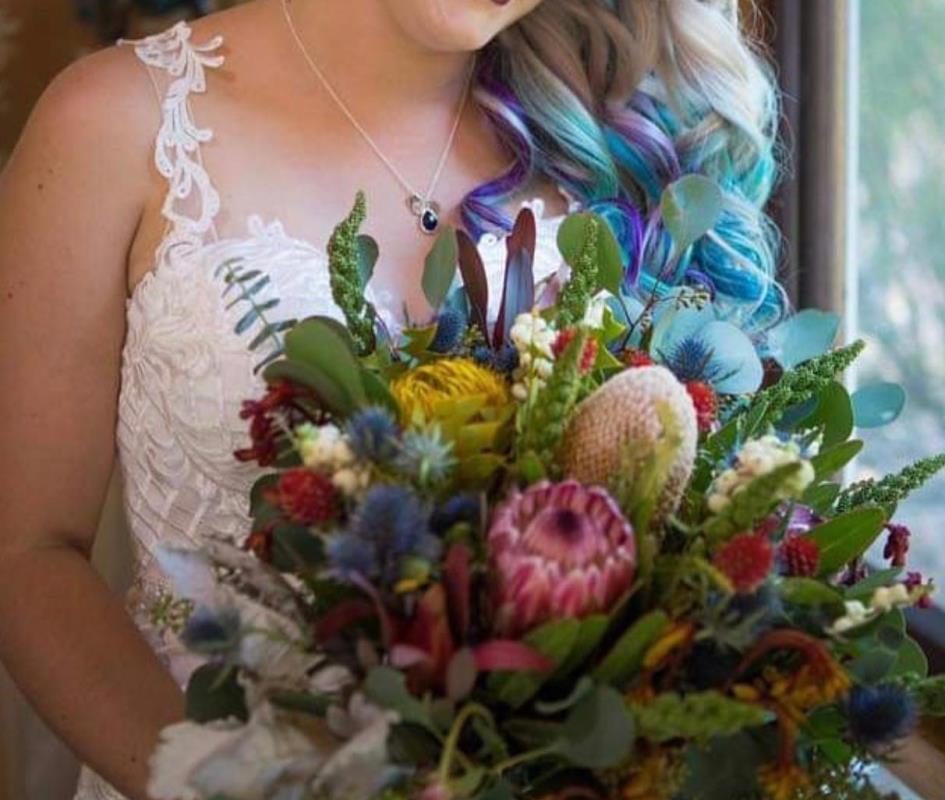 Greens Florist Native Flower Wedding Arrangement